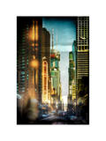 Instants of NY Series - Urban Street View at Nighfall Photographic Print by Philippe Hugonnard