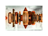 Double Sided and Instants of NY Series - Skyscrapers of Times Square in Manhattan Photographic Print by Philippe Hugonnard