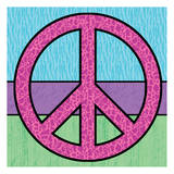 Highlighter Peace Posters by Lauren Gibbons