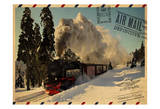 Locomotive Postcard Poster by Jody Taylor