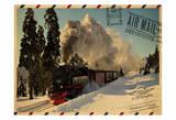 Locomotive Postcard Poster by Jody Taylor