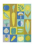 Veggie Blocks II Poster by Chariklia Zarris