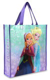 Film Disney Frozen-Il regno di ghiaccio - Anna & Elsa sorelle borsa shopping Borsa shopping