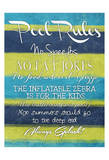 Pool Rules Posters by Jace Grey