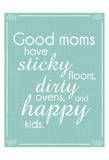 Good Moms Aqua Posters av Lauren Gibbons