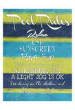 Pool Rules Mate Prints by Jace Grey