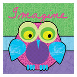 Highlighter Imagine Owl Print by Lauren Gibbons