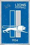 DETROIT LIONS - RETRO LOGO 14 Plakater