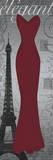 Red Dress Eiffle Prints by Lauren Gibbons