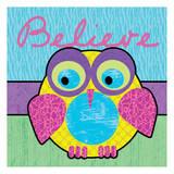 Highlighter Belief Owl Posters van Lauren Gibbons