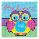Highlighter Belief Owl Prints by Lauren Gibbons