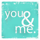 You and Me Teal Prints by Cynthia Alvarez
