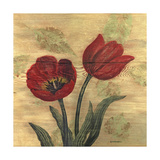 Tulip on Wood Premium Giclee Print by Wendy Russell
