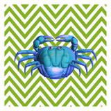 Crab Print by Elizabeth Jordan