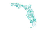 Florida Turquoise Prints by Jace Grey