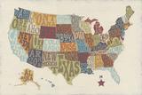 United State Signs Kunstdruck von Erica J. Vess