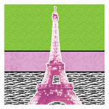 Highlighter Eiffel Prints by Lauren Gibbons