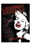 Marilyn on Shoes Posters by Lauren Gibbons