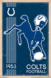 INDIANAPOLIS COLTS - RETRO LOGO 14 Affiche
