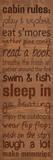 Cabin Rules (Brown) Plakat av Lauren Gibbons