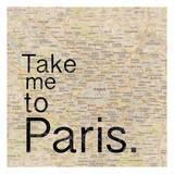 Map Paris Prints by Lauren Gibbons
