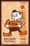 CLEVELAND BROWNS - RETRO LOGO 14 Prints