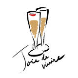 Joie de Vivire Champagne Posters by  OnRei