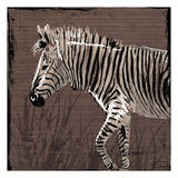 Zebra Walk Brown Art by  OnRei