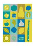 Veggie Blocks I Giclee Print by Chariklia Zarris