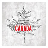 Canada Provinces Prints by  OnRei