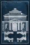 Palace Facade Blueprint II Prints by  Vision Studio