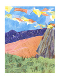 Prayer Flags V Poster by Carolyn Roth