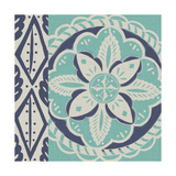 Blue Batik Tile IV Prints by Chariklia Zarris