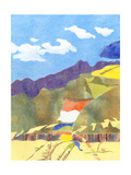 Prayer Flags IV Premium Giclee Print by Carolyn Roth