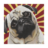 Dlynn's Dogs - Puggins Giclee Print by Dlynn Roll