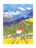 Prayer Flags VI Premium Giclee Print by Carolyn Roth