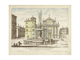 Fountains of Rome I Print by  Vision Studio