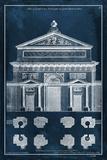 Palace Facade Blueprint I Kunstdrucke von  Vision Studio