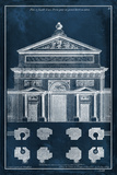 Palace Facade Blueprint I Posters by  Vision Studio