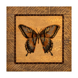 Crackled Butterfly - Swallowtail Print by Wendy Russell