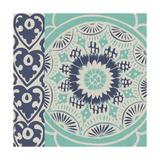 Blue Batik Tile III Posters by Chariklia Zarris