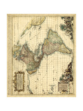 Antique Map of America II Prints