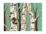 Birch Grove on Teal I Giclee Print by Jade Reynolds