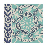 Blue Batik Tile I Poster by Chariklia Zarris