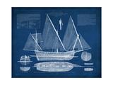Antique Ship Blueprint III Giclée-Premiumdruck von  Vision Studio
