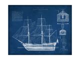 Antique Ship Blueprint IV Poster von  Vision Studio
