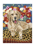 Golden Boy Retriever Giclee Print by Carolee Vitaletti