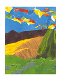 Prayer Flags I Premium Giclee Print by Carolyn Roth