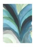 Jodi Fuchs - Big Blue Leaf I Umění