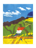 Prayer Flags II Premium Giclee Print by Carolyn Roth